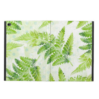 Green Fern Leaves Modern Botanical Watercolor Powis iPad Air 2 Case