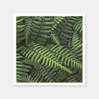Green fern leaves paper napkins