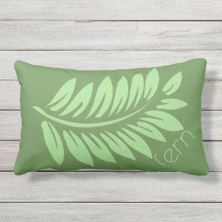 Green Fern Outdoor Pillow
