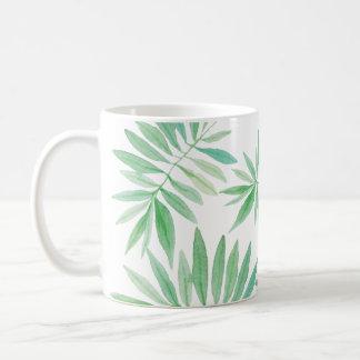 Green fern palm storm coffee mug