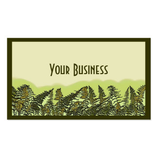Green fern plant customizable business cards