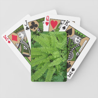 Green Fern Playing Cards