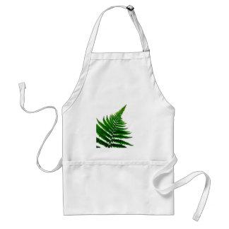 Green Fern prints Woodlands Leaf Standard Apron