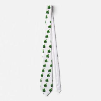 Green Fern prints Woodlands Leaf Tie