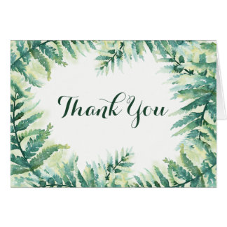 Green Fern Thank You Card