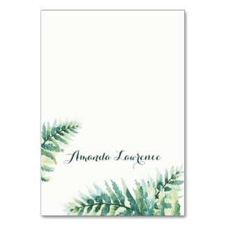 Green Fern Watercolor Place Cards