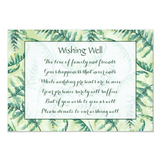 Green Fern Wedding Wishing Well Cards