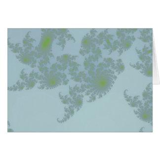 Green Ferns Greetings Card