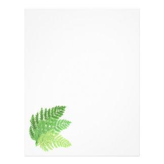 Green Ferns Letterhead