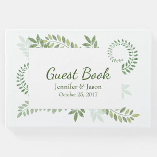 Green Ferns Wedding Guest Book