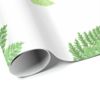 Green Ferns Wrapping Paper