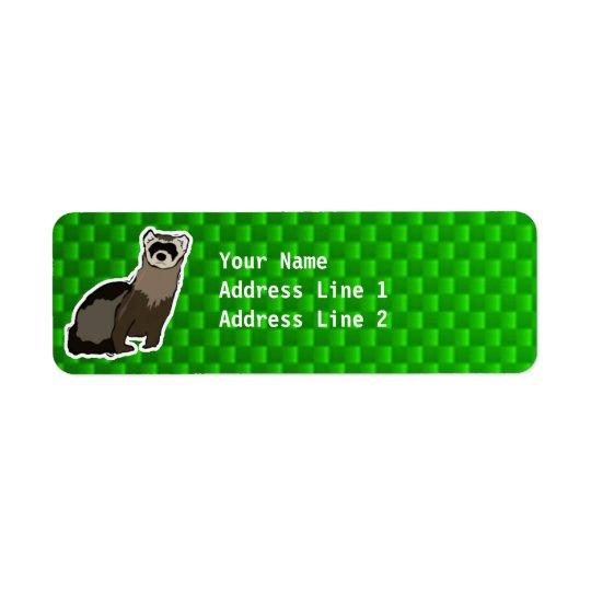 Green Ferret Return Address Label
