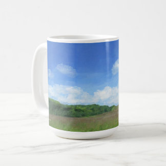 Green Field Blue Sky Coffee Mug