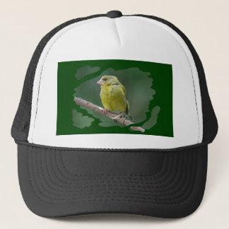 Green Finch - green finch - Verdier photo JL Trucker Hat