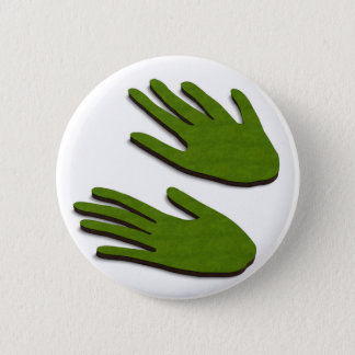 Green fingers 2 inch round button