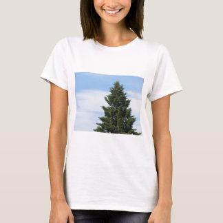 Green fir tree against a clear sky T-Shirt