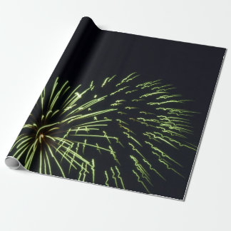 Green Fireworks Gift Wrap