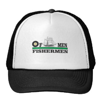 green fisherman trucker hat