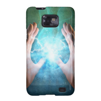 Green flame  powerful healing hands samsung galaxy s2 case