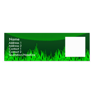 Green Flames Pack Of Skinny Business Cards