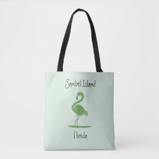 Green Flamingo Fine Art - Sanibel Island Florida Tote Bag