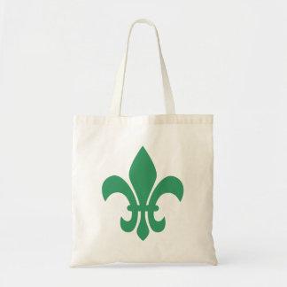 Green Fleur de Lis Sac