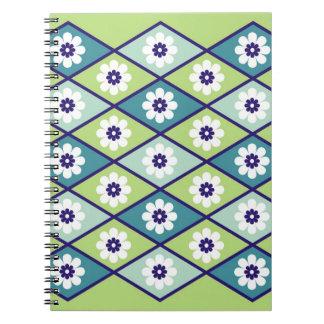 Green Floral Geometric Pattern Journal