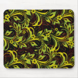 green floral pattern mouse mats