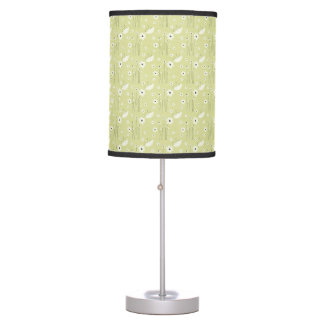 Green Floral Table Lamp