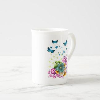 Green Floral Tea Cup
