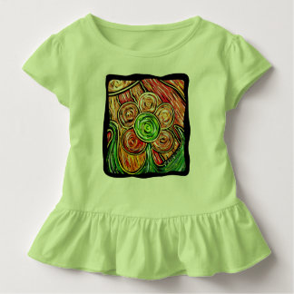 Green Floral Toddler T-shirt