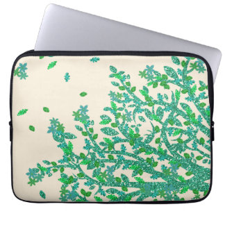 Green Floral Tree Branch Laptop Sleeves