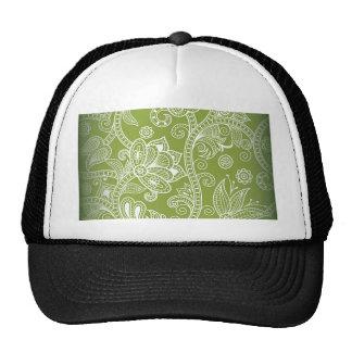 green floral trucker hat