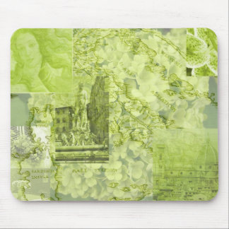 Green Florence Picture Collage- Mousepad