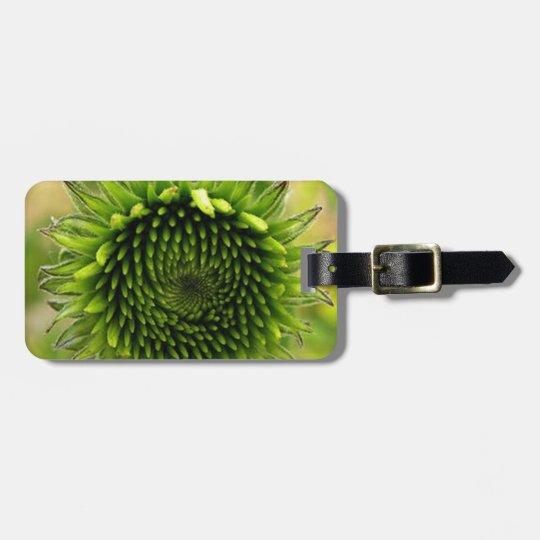 Green Flower Bag Tag