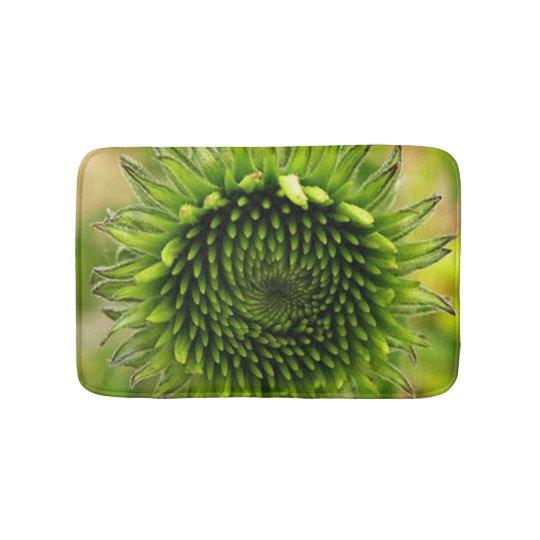 Green Flower Bath Mat