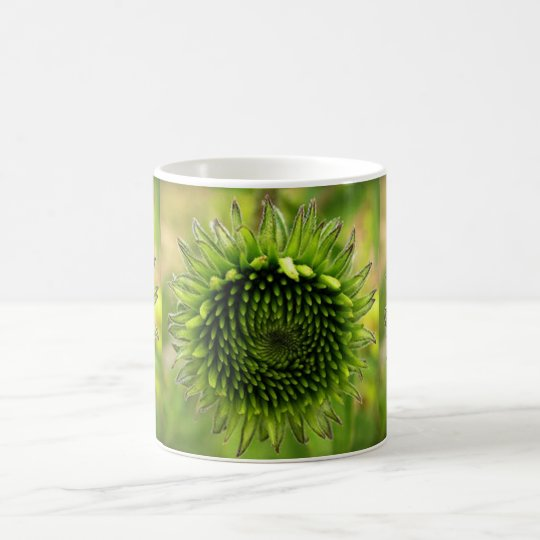 Green Flower Coffee Mug