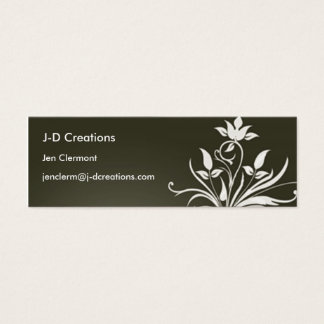Green Flower - Customized Mini Business Card