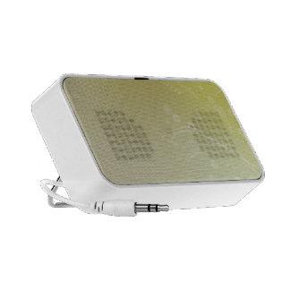 Green flower design speaker system