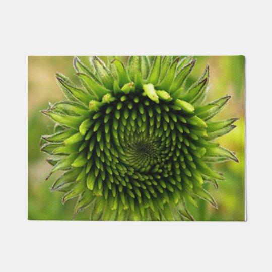 Green Flower Doormat