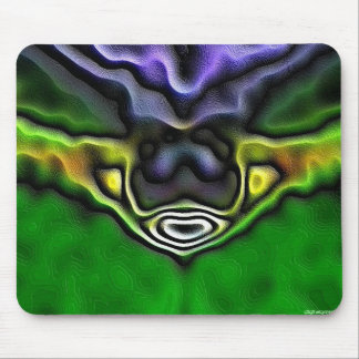 green flower fractal mouse pad