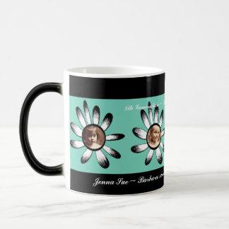 Green Flower Frames Coffee Mugs
