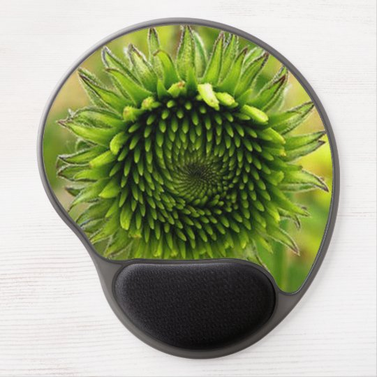 Green Flower Gel Mouse Pad