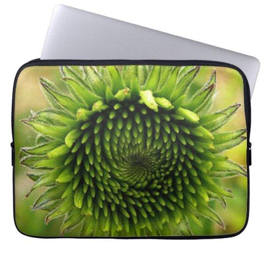 Green Flower Laptop Sleeve
