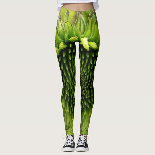 Green Flower Leggings