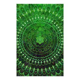 Green Flower Mandala Flyer
