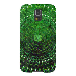 Green Flower Mandala Galaxy S5 Cover