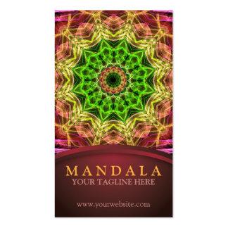 Green Flower Mandala Pack Of Standard Business Cards