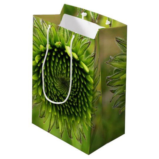 Green Flower Medium Gift Bag