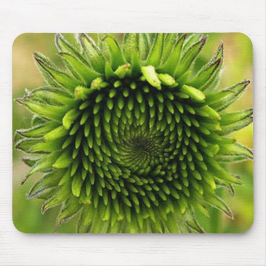 Green Flower Mouse Pad